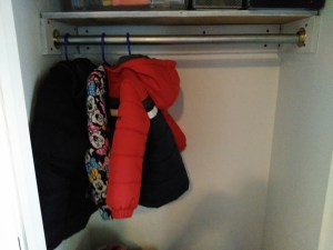 shelf clothes rod installed