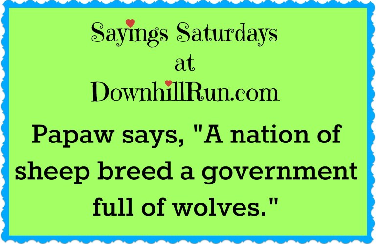 Sayings Saturdays – 5/28/2016