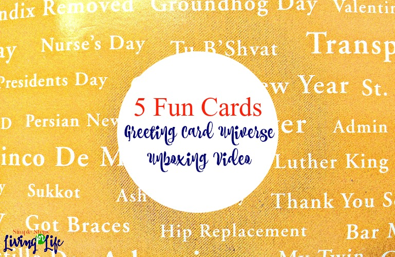5 Fun Cards – Greeting Card Universe Unboxing Video