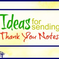 Ideas for Sending Thank You Notes