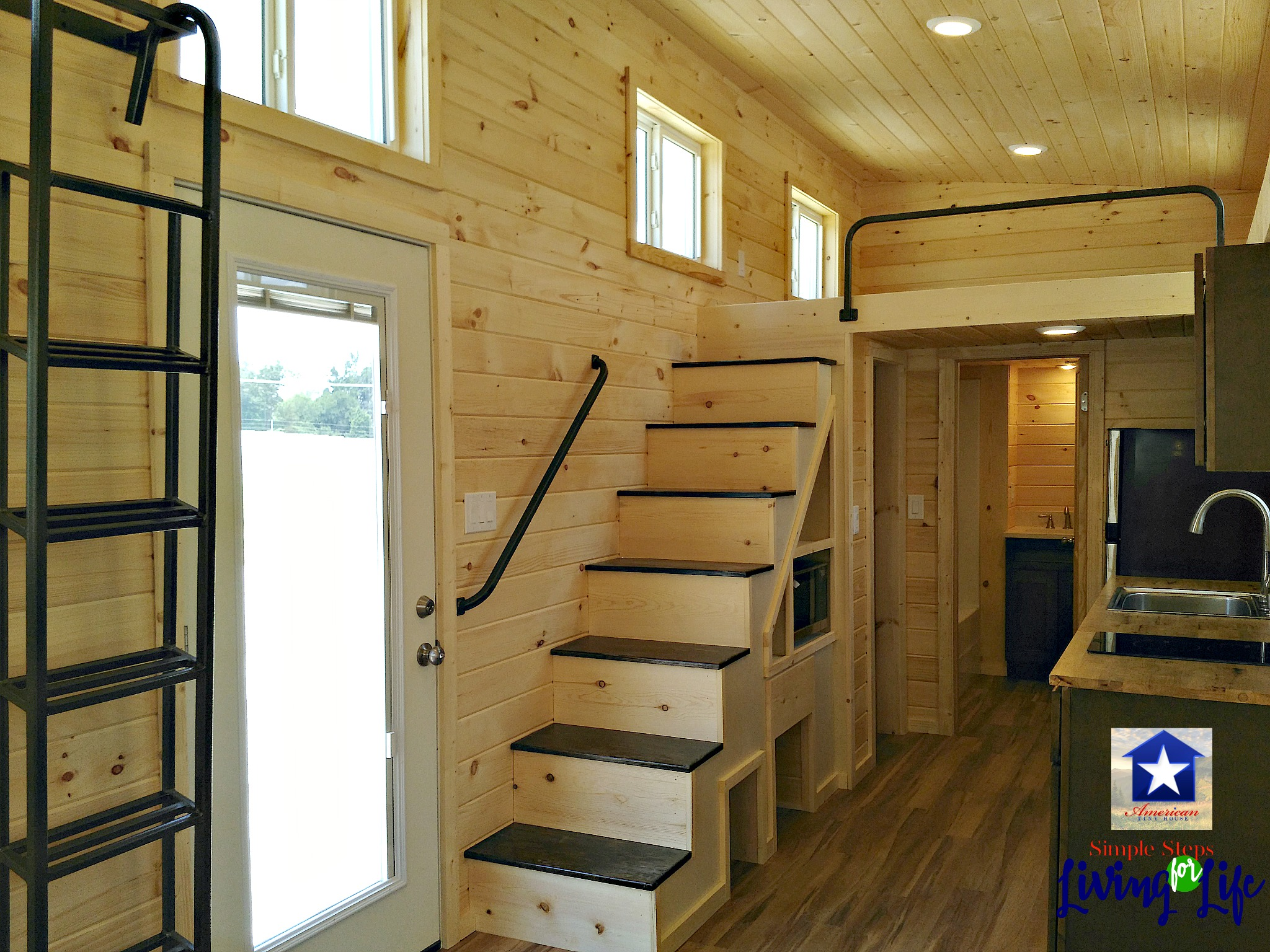 Staggering A View Kitchen Area A Tiny As Seen On Tiny House Stepsforlivinglife Tiny House Hunters Episodes Youtube Tiny House Hunters Episodes A Sized Refrigerator curbed Tiny House Hunters Full Episodes