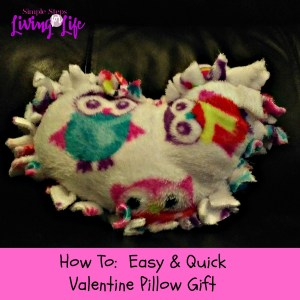 How to make a quick and easy Valentine pillow gift