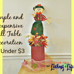 Simple and Inexpensive Fall Table Decorations For Under $3