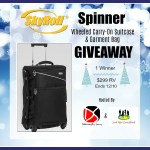SkyRoll Spinner Wheeled Carry-On Suitcase & Garment Bag Giveaway Ends 12/10