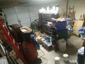 garage tidying up
