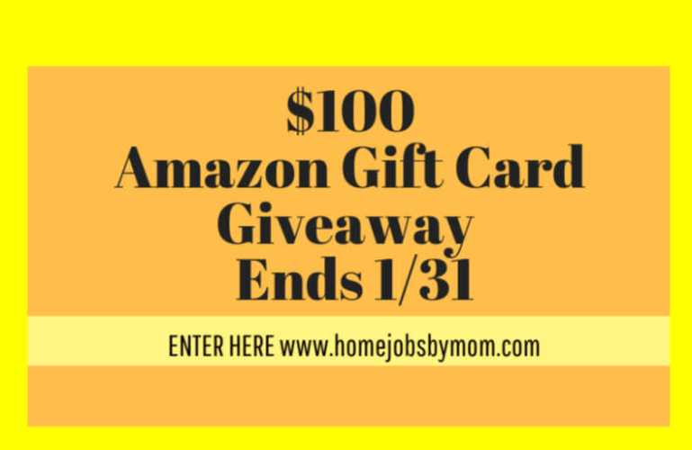 $100 Amazon Giftcard Giveaway – ends 1/31