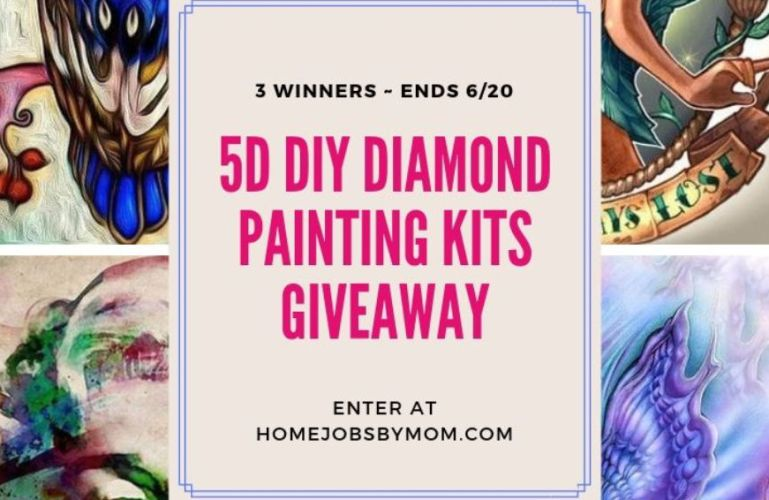 Diamond Paintings Giveaway (3 Winners) ~ Ends 6/20