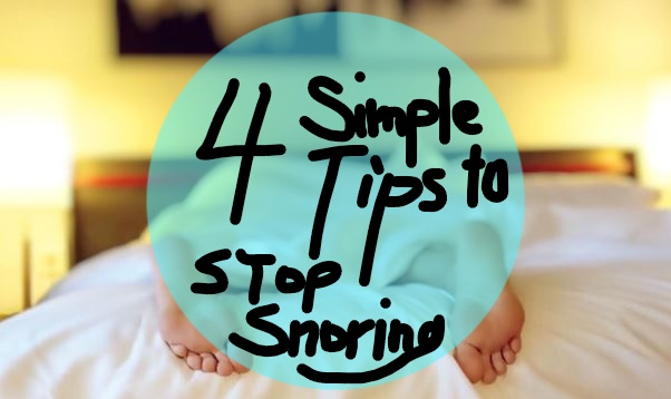 4 Simple Ways To Stop Snoring