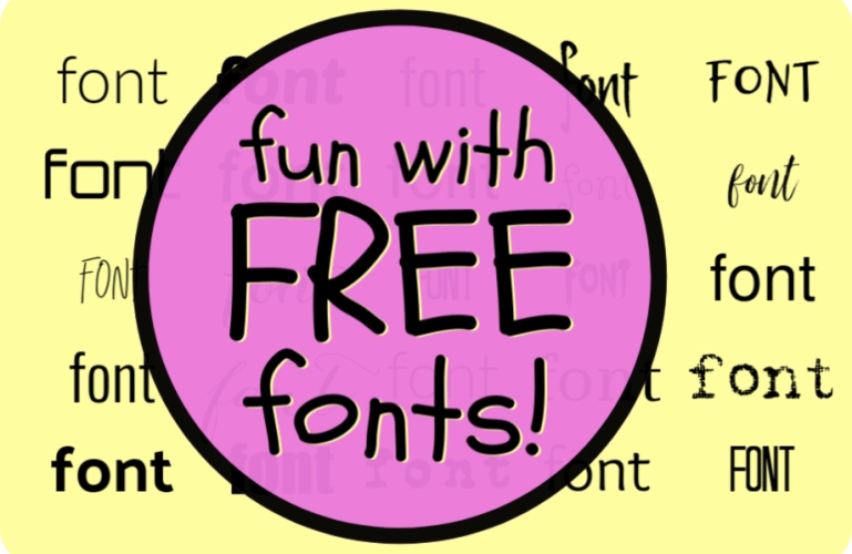 fun with FREE fonts!