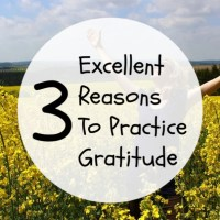 3 Excellent Reasons To Practice Gratitude