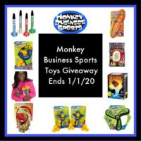 Monkey Business Sports Toys Giveaway ends 1/1/2020