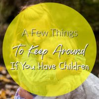 A Few Things To Keep Around If You Have Children