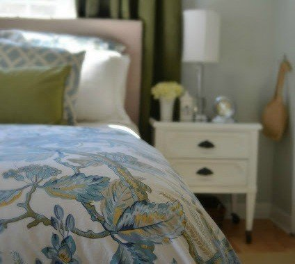 Sweet and Petite Blue & Green Master Suite {A Work In Progress}