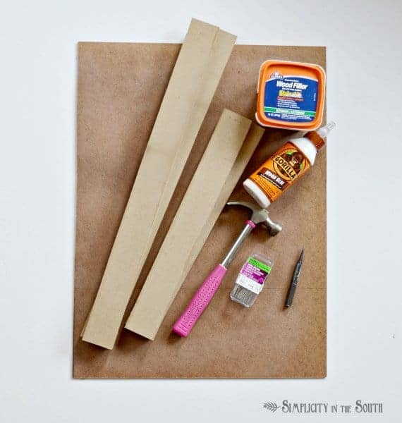 Supplies needed for making monogrammed art