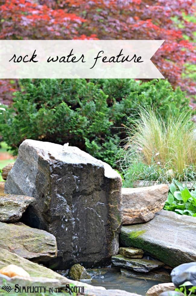 DIY bubbling rock water feature