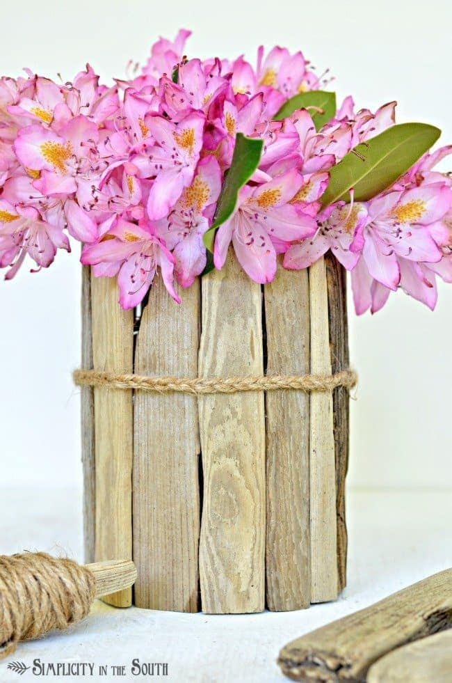 how to make a driftwood vase