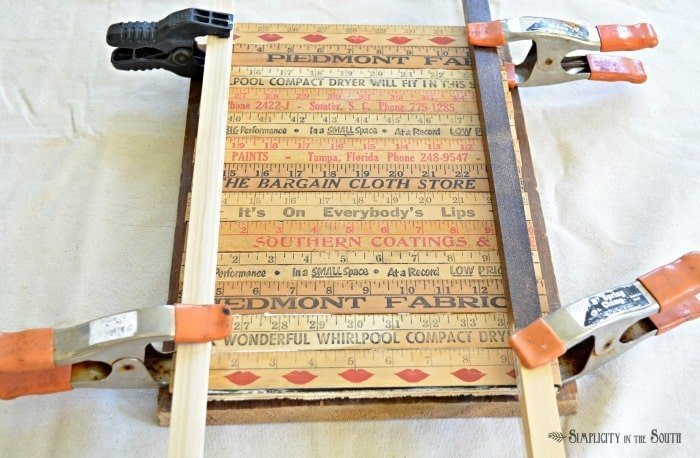 how to make a yardstick tray
