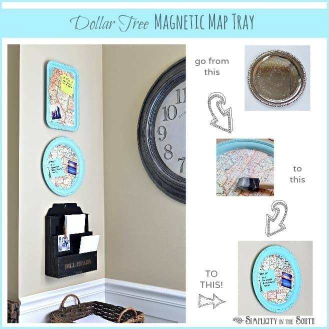 how to make a magnetic map tray