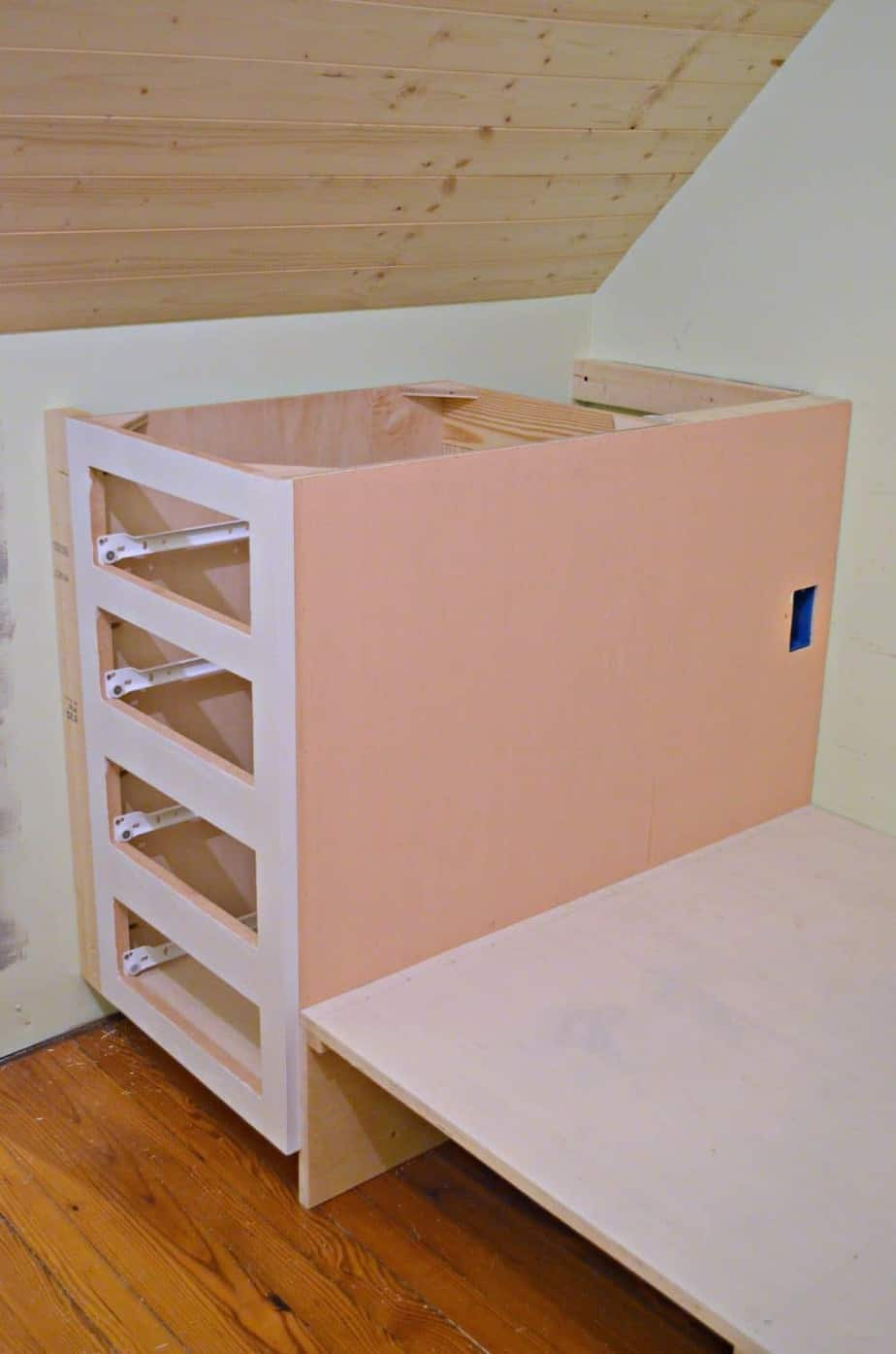 How To Make A Kitchen Cabinet How To Make A Built In Bed Using Stock Kitchen Cabinets