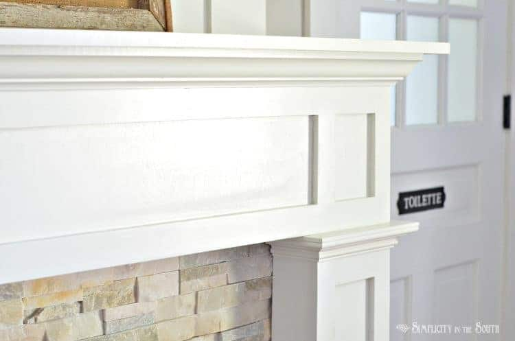 DIY fireplace surround makeover on a budget