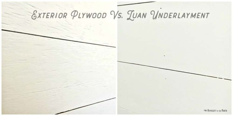 Shiplap walls -texture difference between exterior plywood and luan underlayment