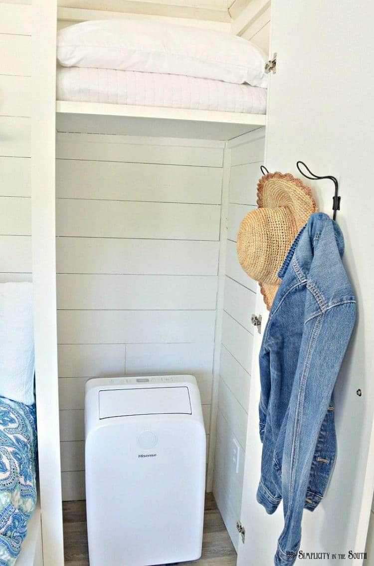 The cottage guest shed reveal closet