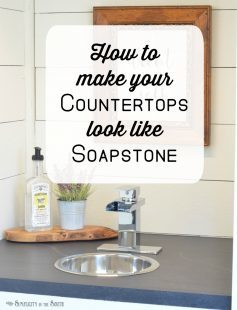 how to make your countertops look like soapstone with paint