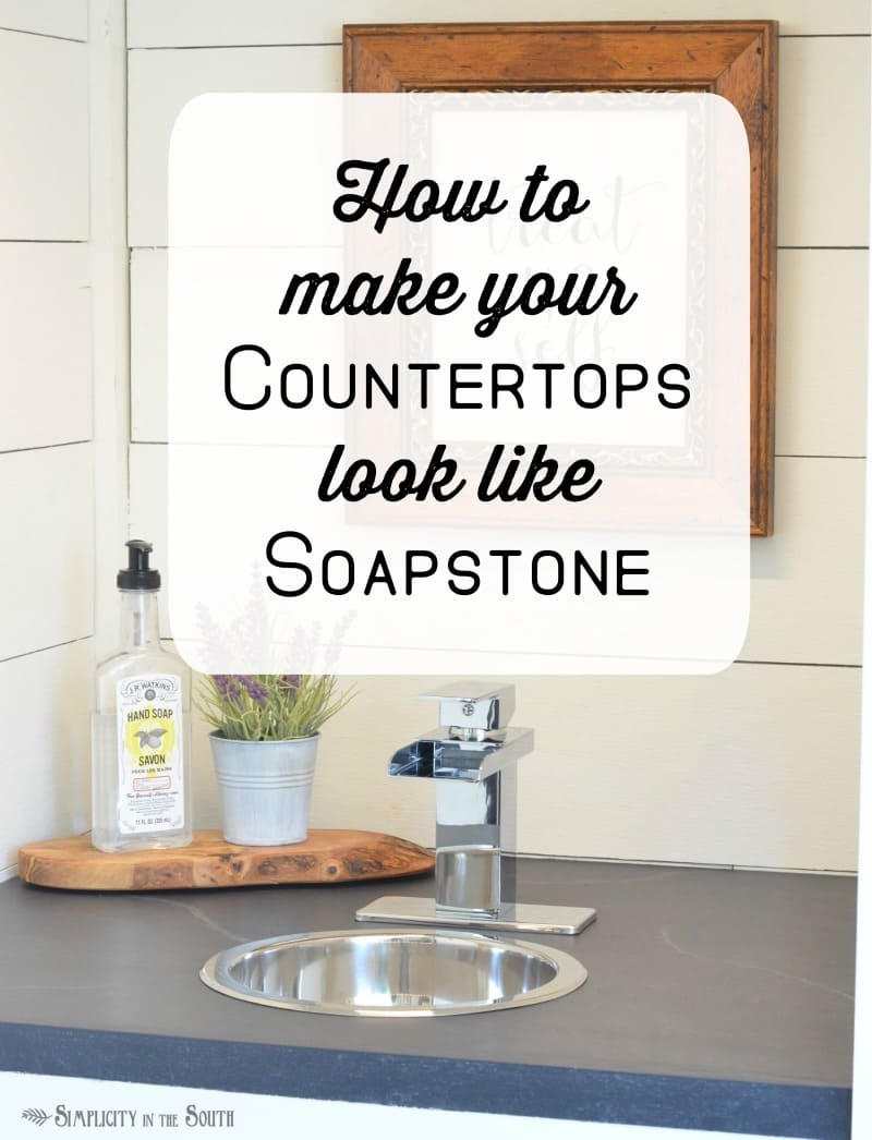 Diy Soapstone Countertops Using Paint Simplicity In The South