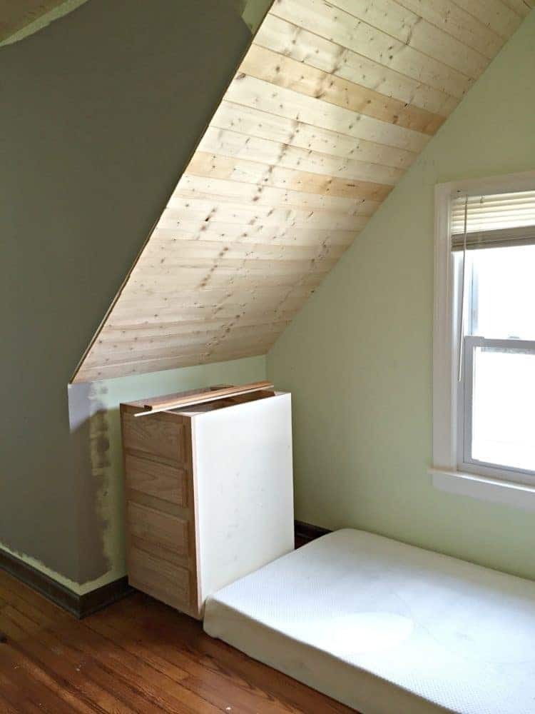 covering-popcorn-ceilings-in-the-attic-bedroom