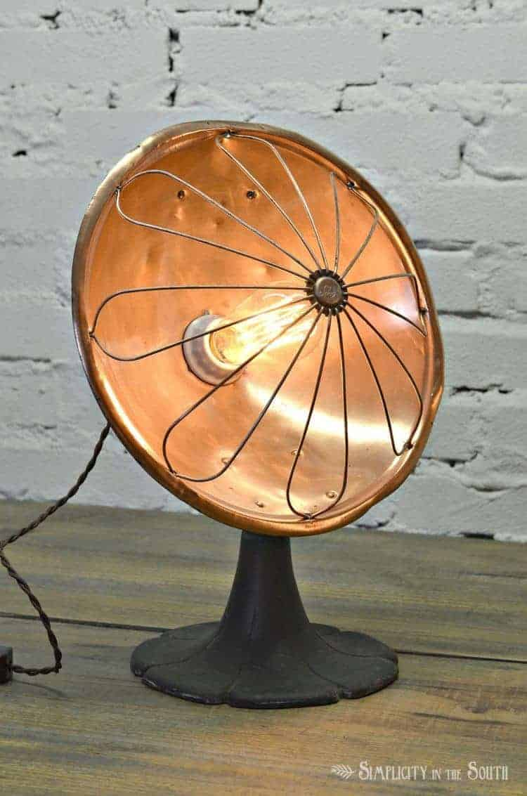 repurposed-heater-made-into-a-lamp