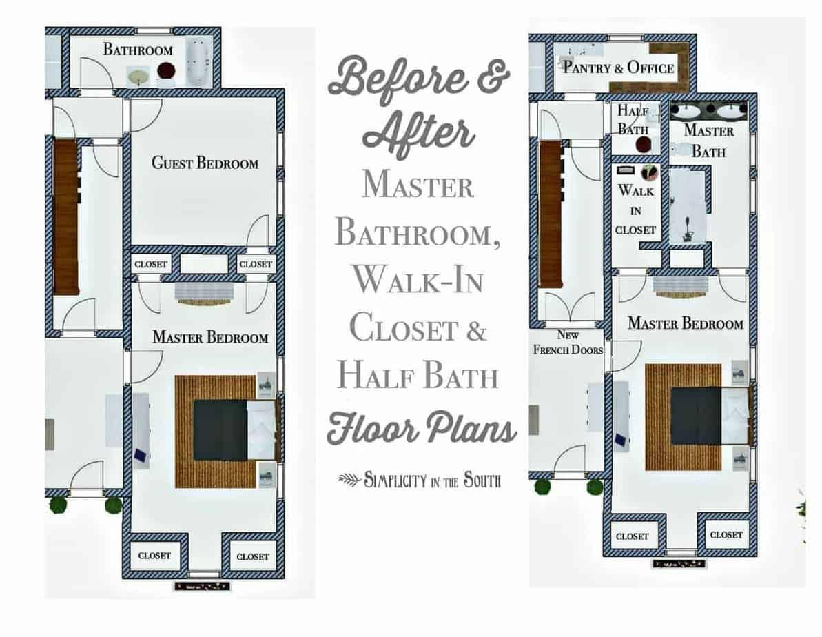 So Long Spare Bedroom Hello Master Bathroom Walk In Closet And Half Bath