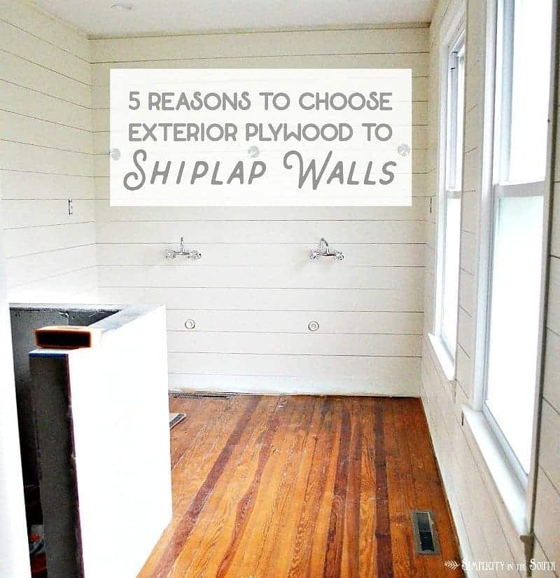 Shiplap Walls- 5 Reasons to Use Exterior CDX Plywood Instead of Luan Underlayment