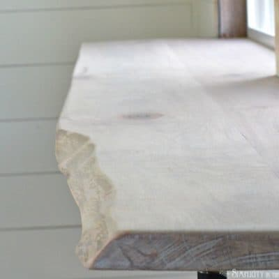 DIY Live Edge Wood Bar & An Easy Way to Join Wood Planks Using Basic Tools (Video Tutorial)