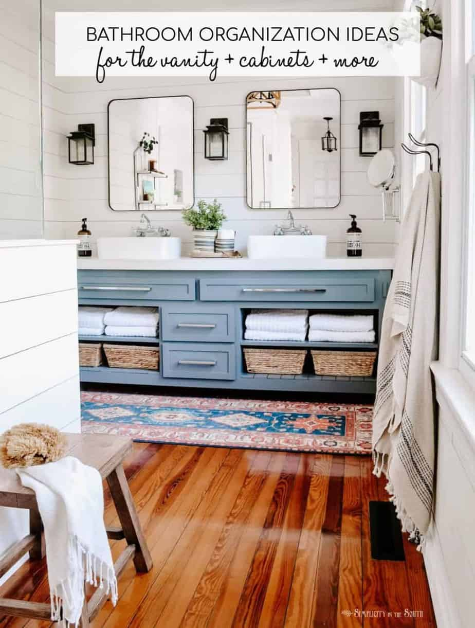 6 Master Bathroom Organization Ideas For The Vanity Cabinets More Simplicity In The South