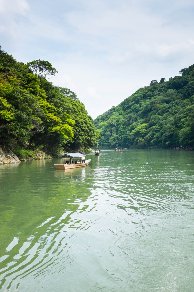 Arashiyama is near the Oi River in Kyoto