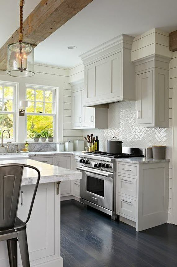What Goes With Black Kitchen Cabinets Elements Of Modern Farmhouse Style - Simplified Bee
