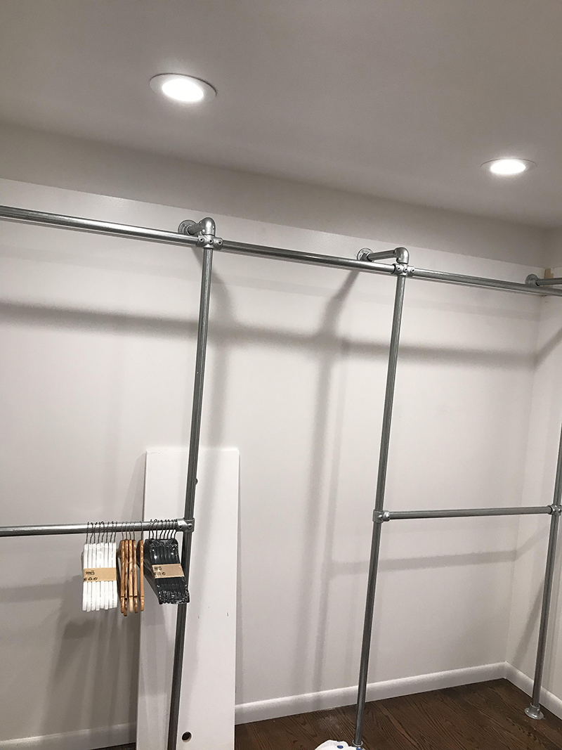 44 Diy Closet Ideas Built With Pipe Fittings Simplified Building