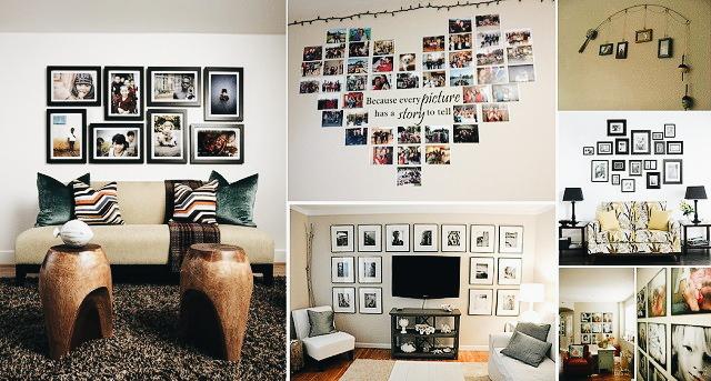 18 coole Ideen (Familien)-Fotos an die Wand zu bringen