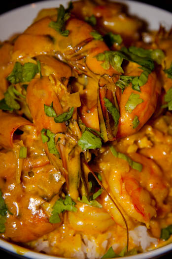 Spicy Cream Prawns