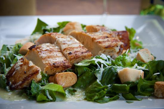 Grilled Chicken on Caesar Salad