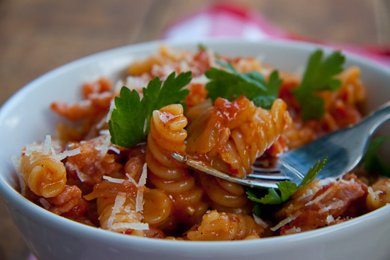 Bacon & Chilli Pasta