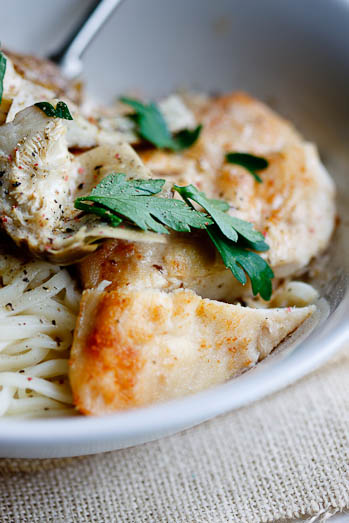Angel hair pasta with Artichokes and Chicken - Simply ...