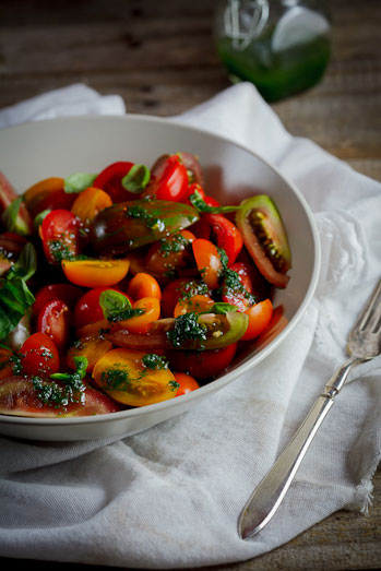 Tomato salad with Basil dressing