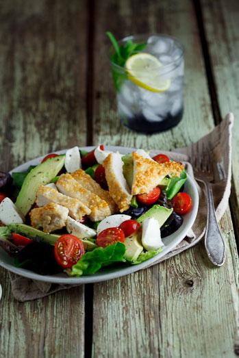 Pecorino crumbed chicken salad