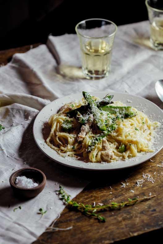 Lemon, chicken & asparagus pasta