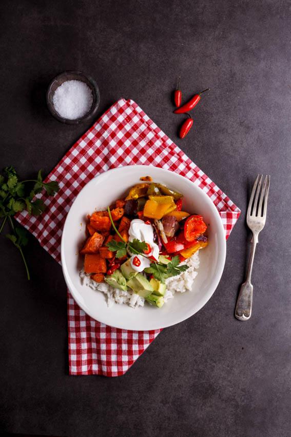 Vegetable Burrito Bowls
