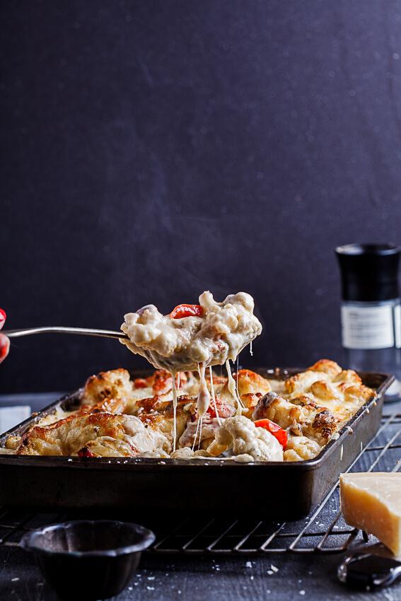 Cheesy vegetable bake