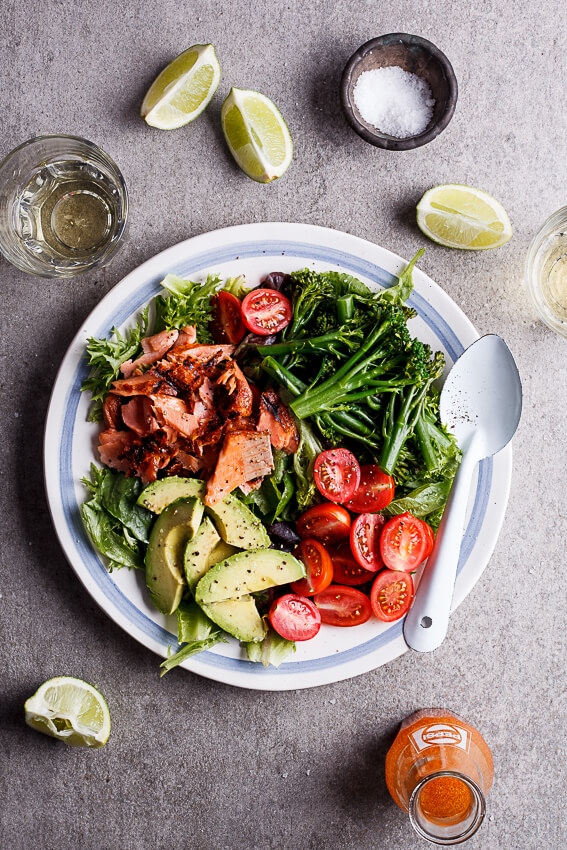 Grilled trout salad with shiracha lime dressing (3)
