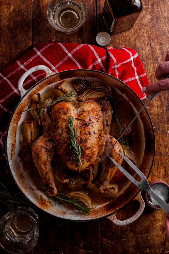 Easy Tuscan roast chicken
