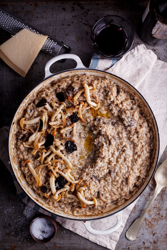Black truffle and mushroom risotto